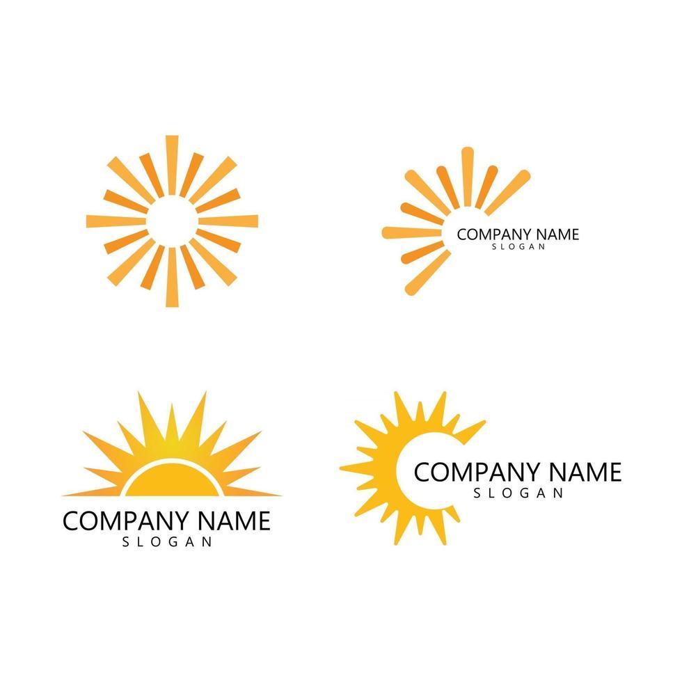 sun illustration logo vector
