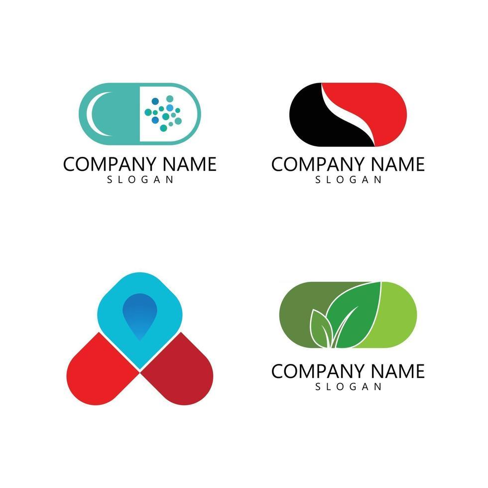 capsule logo icon vector