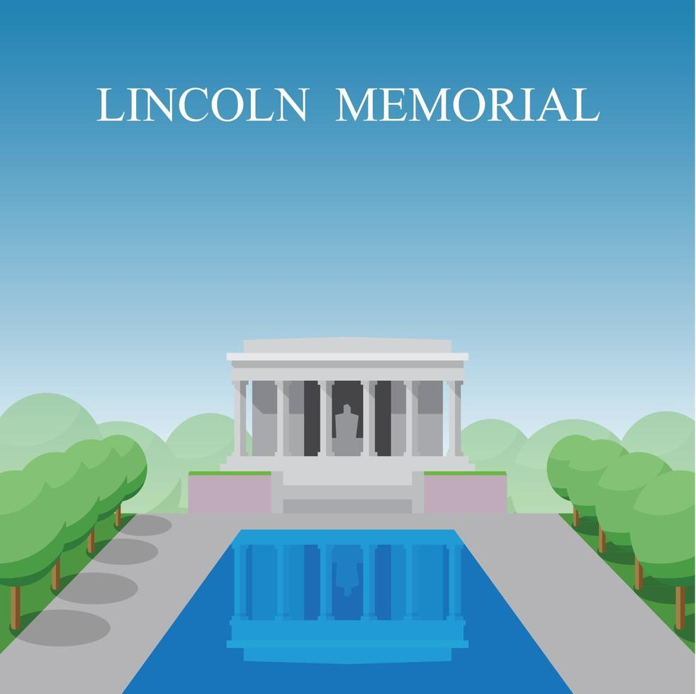 Lincoln Memorial in Washington DC, Distric of Columbia, USA. vector