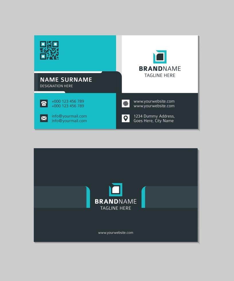 Corporate Modern Business Card Design in Illustrator vector