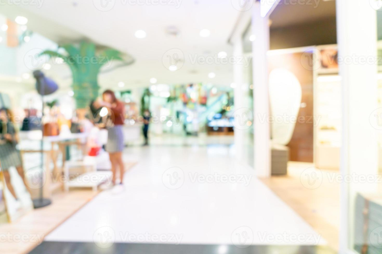 Abstract blur shop and retail store in shopping mall for background photo
