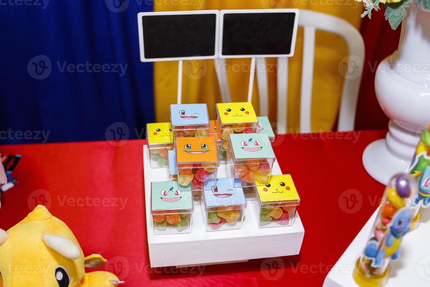 birthday decoration with pokemon theme photo