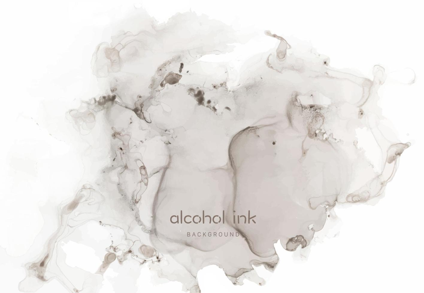Natural luxury abstract fluid art painting in alcohol ink technique. vector
