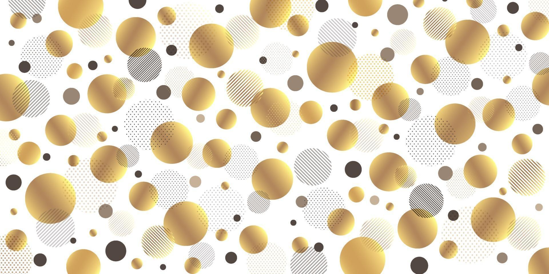 Abstract modern circle golden, black lines diagonally with black and gold dots pattern on white background. Luxury and elegant pattern design. Vector illustration