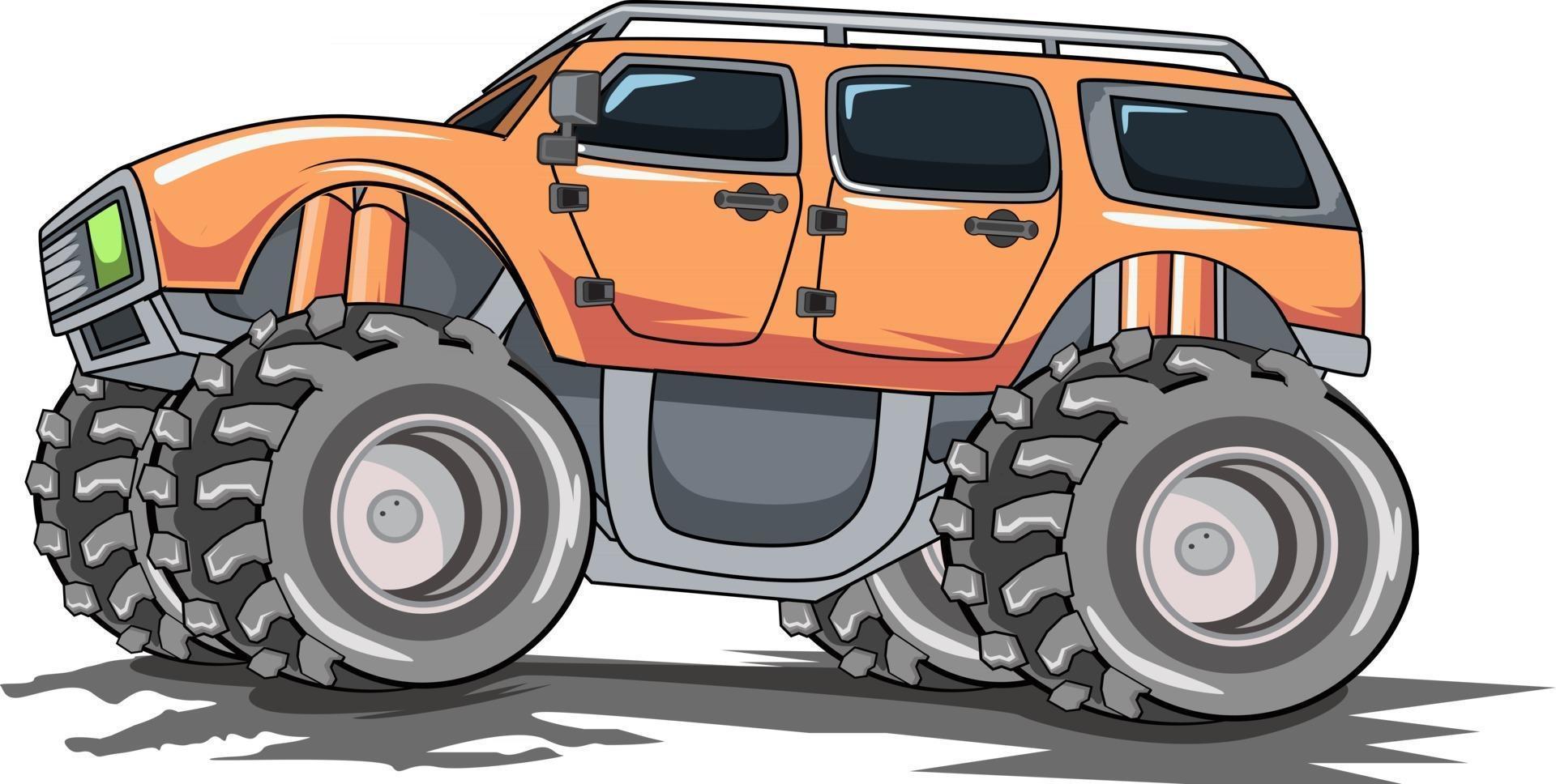 monster truck off road illustration vector