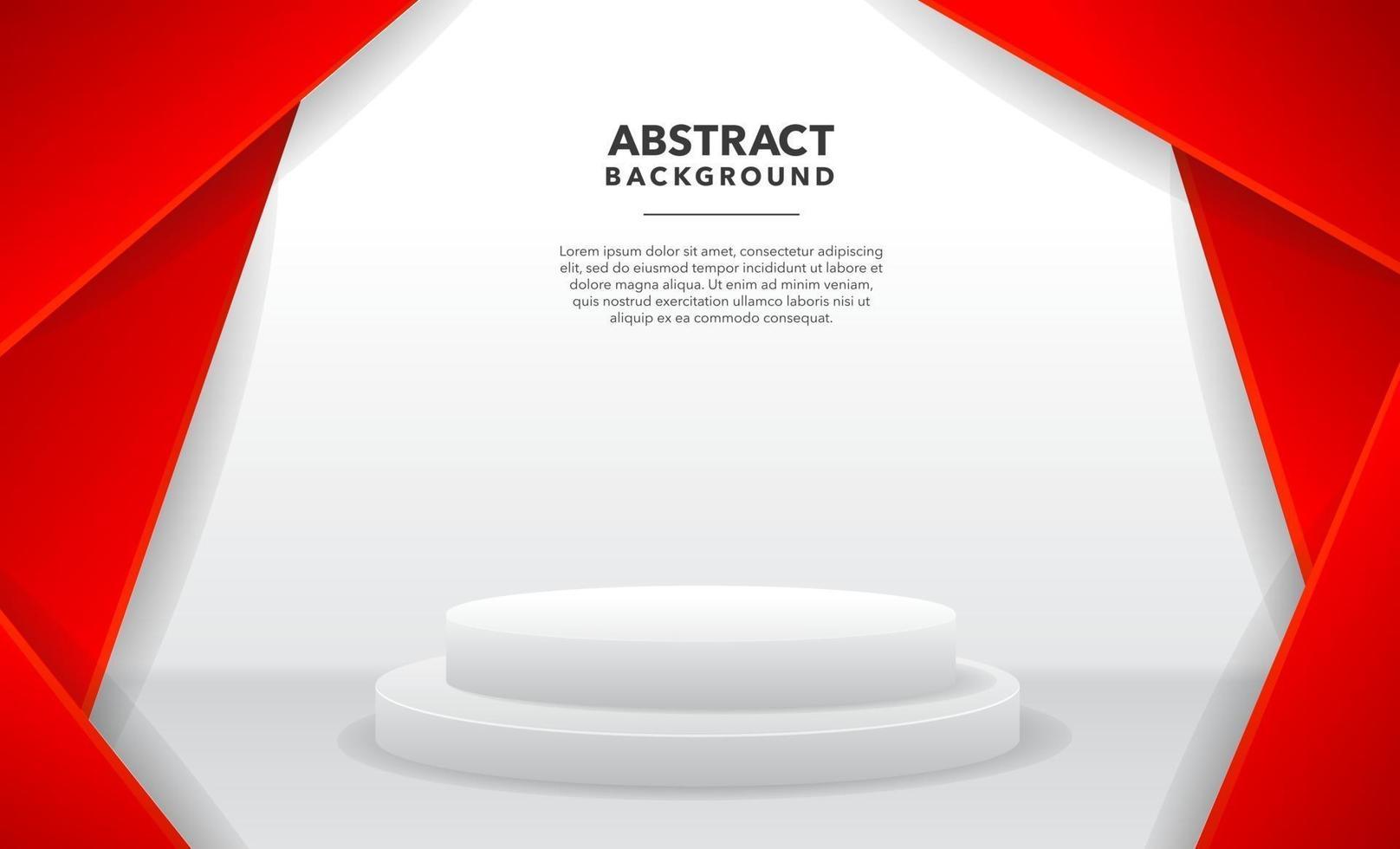 diseño de fondo abstracto moderno blanco rojo vector