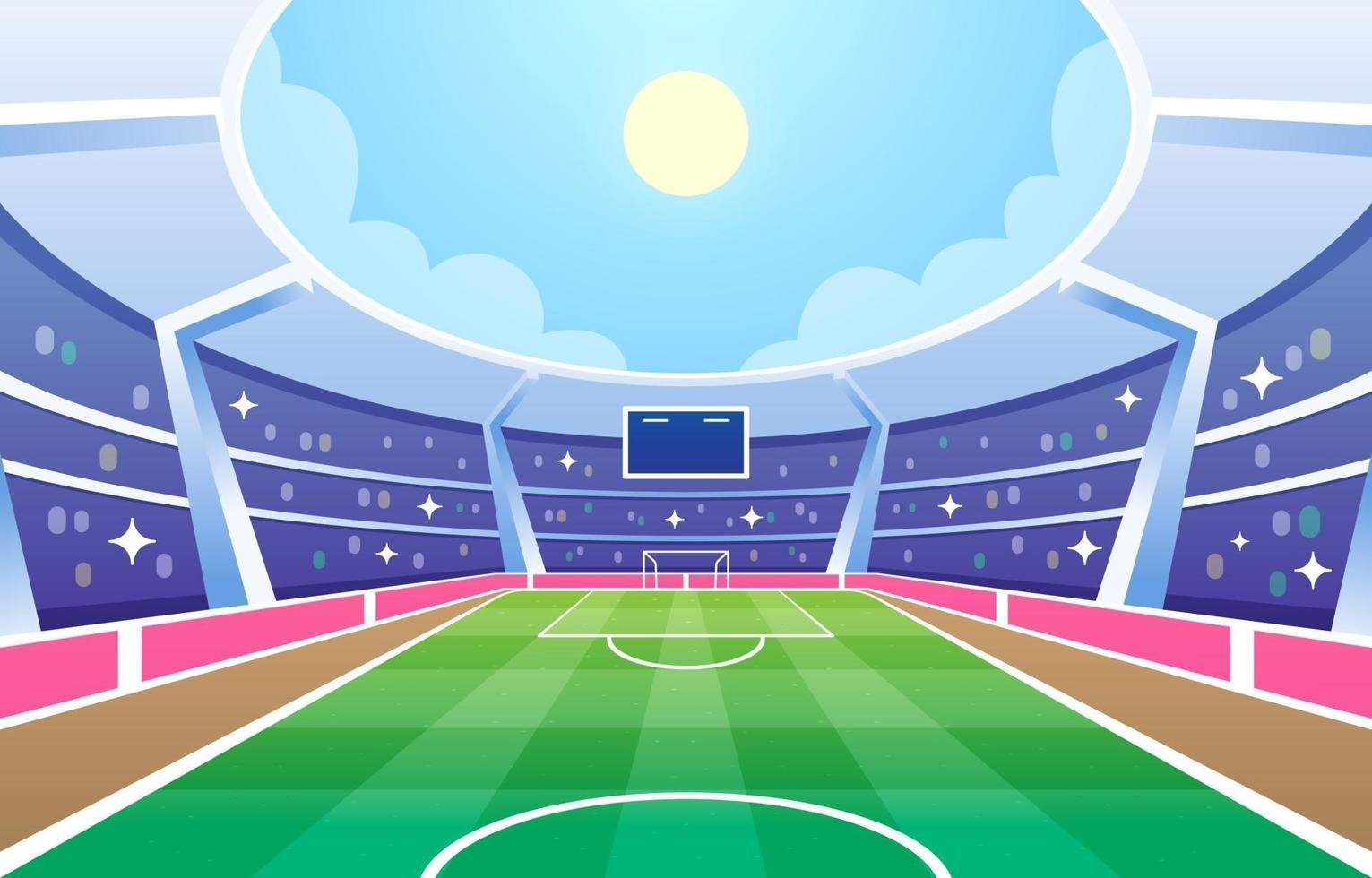 Football Field Stadium Background vector