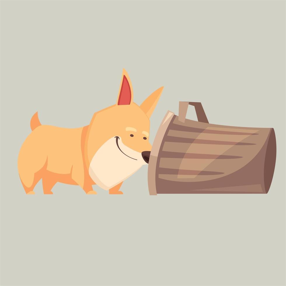 cartoon cute puppy vector ilustration