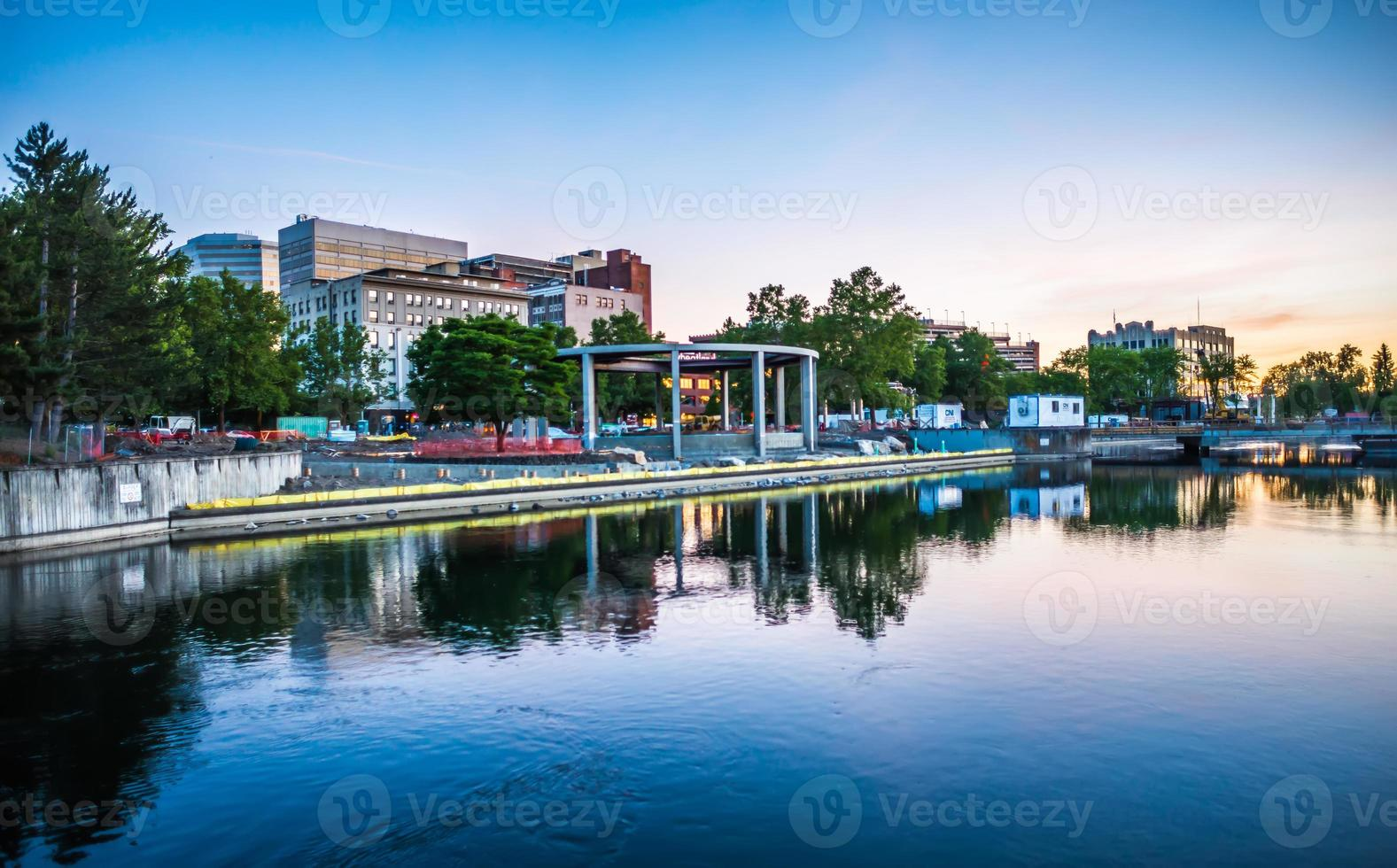 Spokane River in Riverfront Park with Clock Tower photo