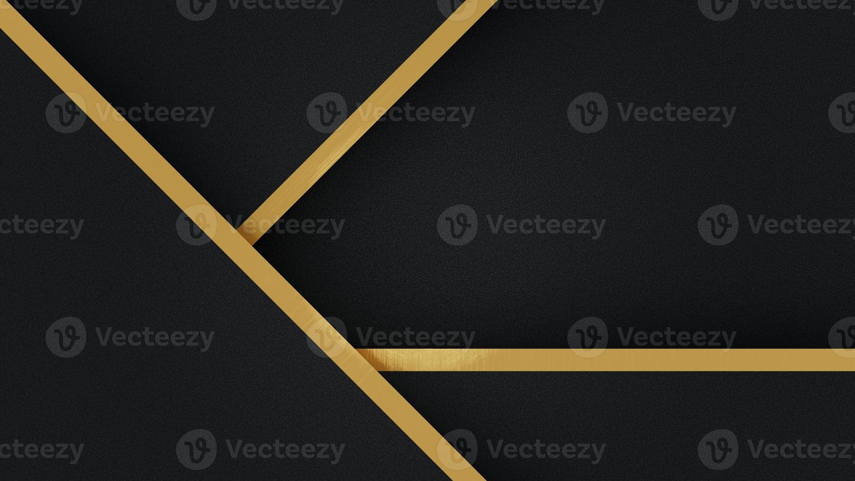 Abstract template black triangle background with striped lines golden. Luxury style. for ad, poster, template, business presentation. photo
