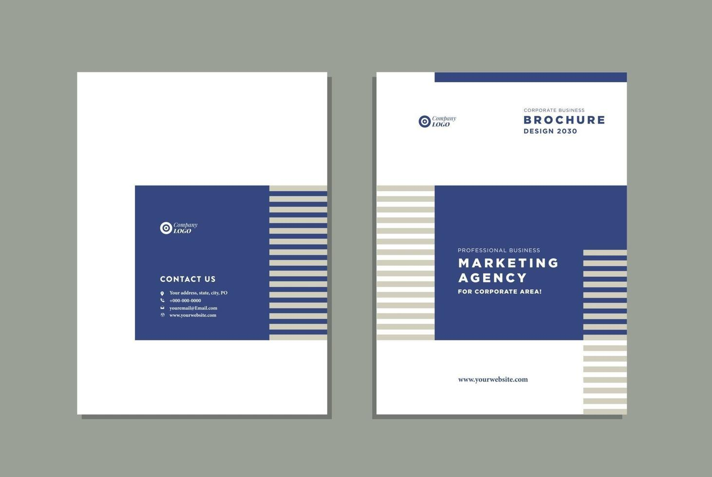 Business Brochure Cover Design or Annual Report and Company Profile Cover or Booklet and Catalog Cover vector
