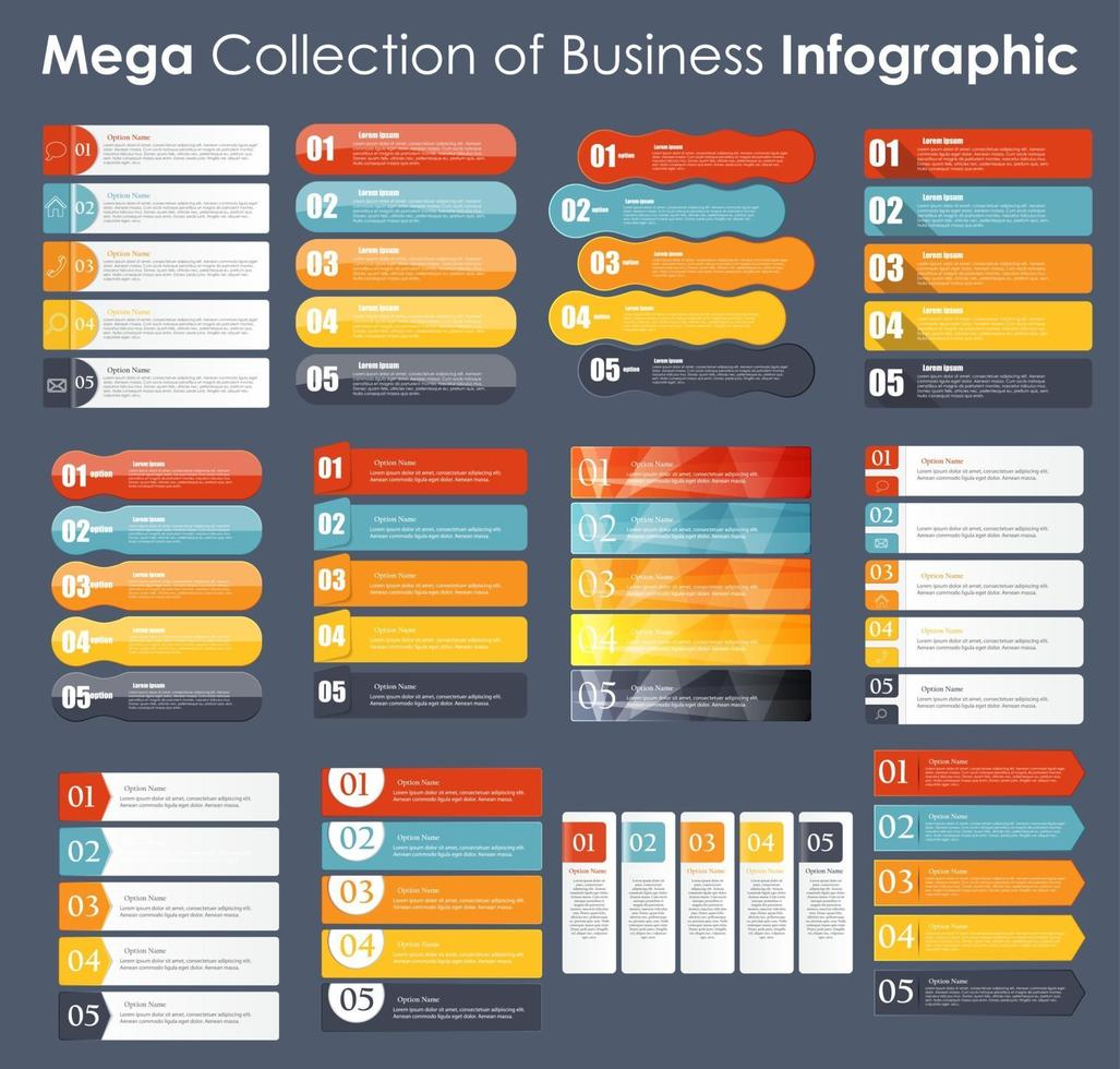 Set of Infographic Templates for Business Vector Illustration
