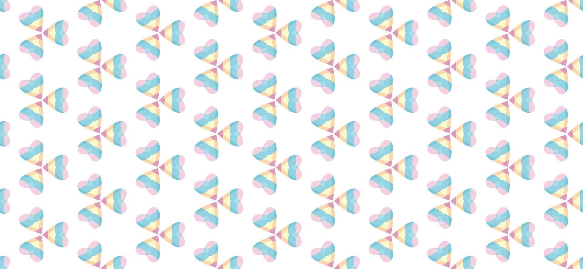 Abstract heart pattern color gradient bright Vector illustration