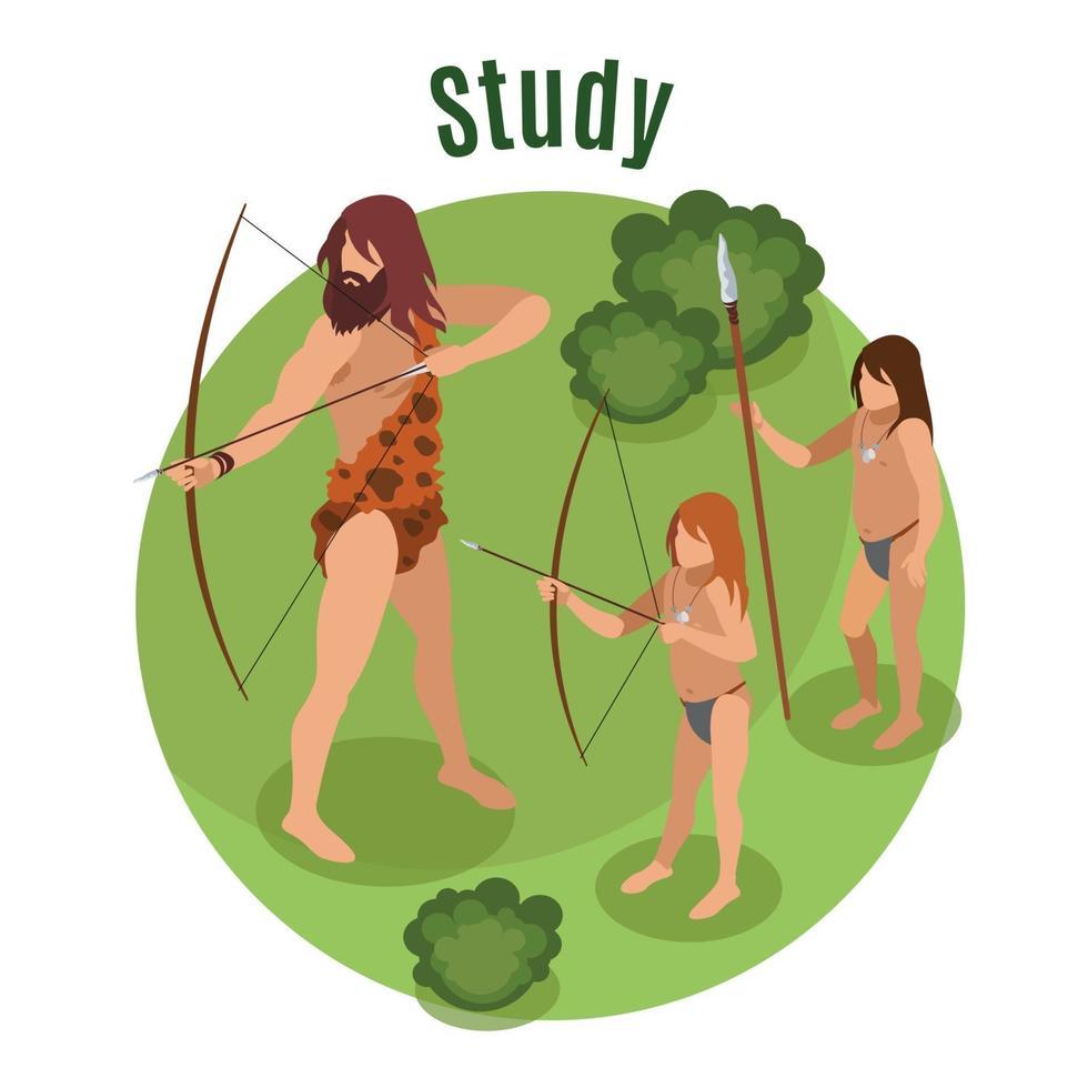 Stone Age Concept Vector Illustration