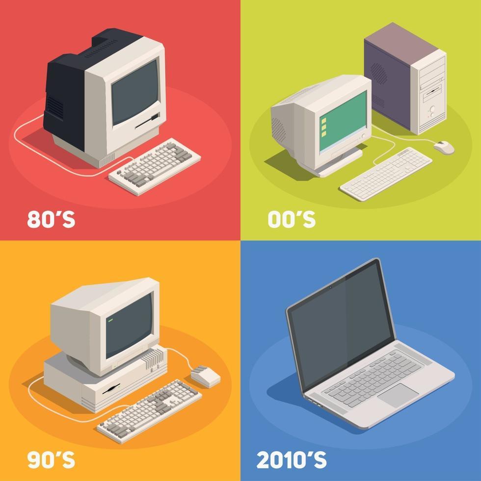 Retro Dadgets 2x2 Design Concept Vector Illustration
