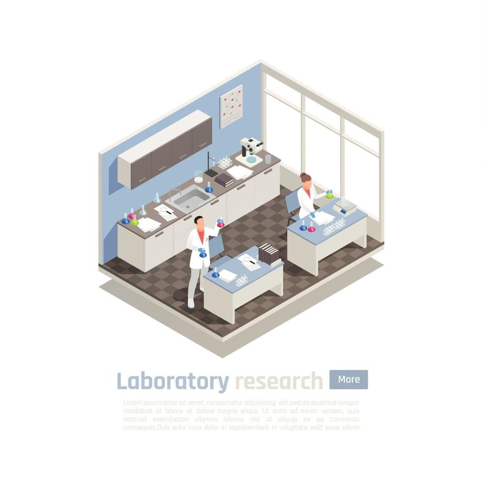 Laboratory Research Isometric Composition Vector Illustration