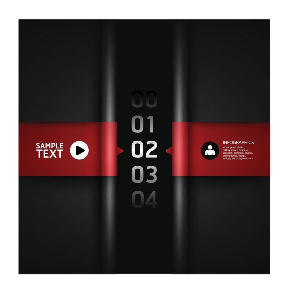 Infographic numbered banners vector