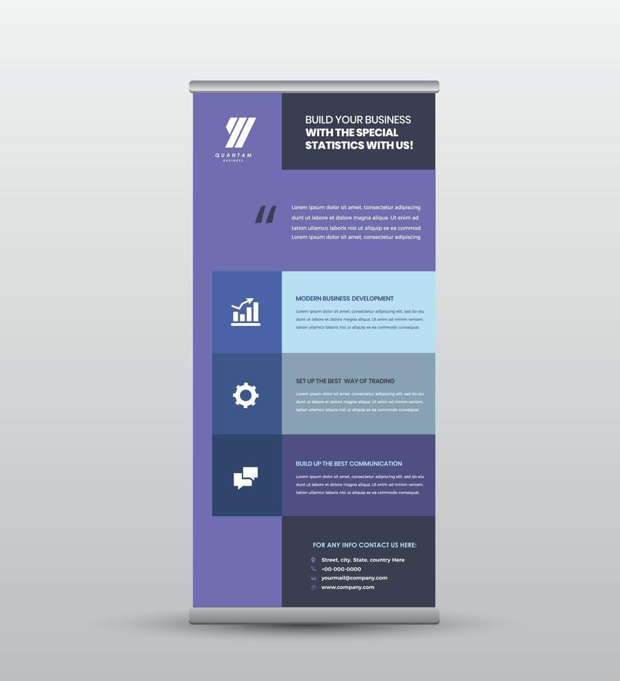 Business RollUp Banner Design or Stand Up Banner Design vector