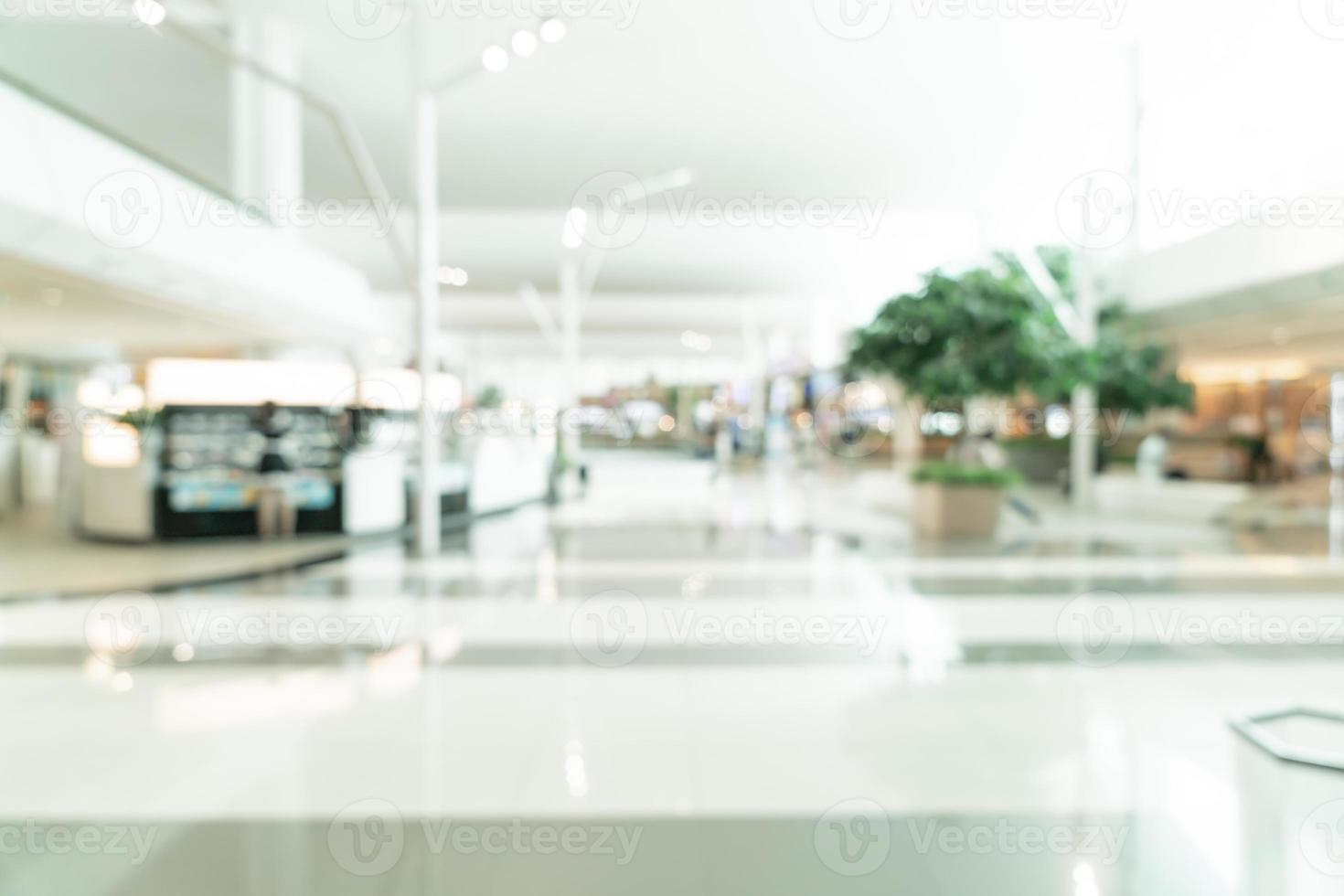 Abstract blur shopping mall and retail store for background photo