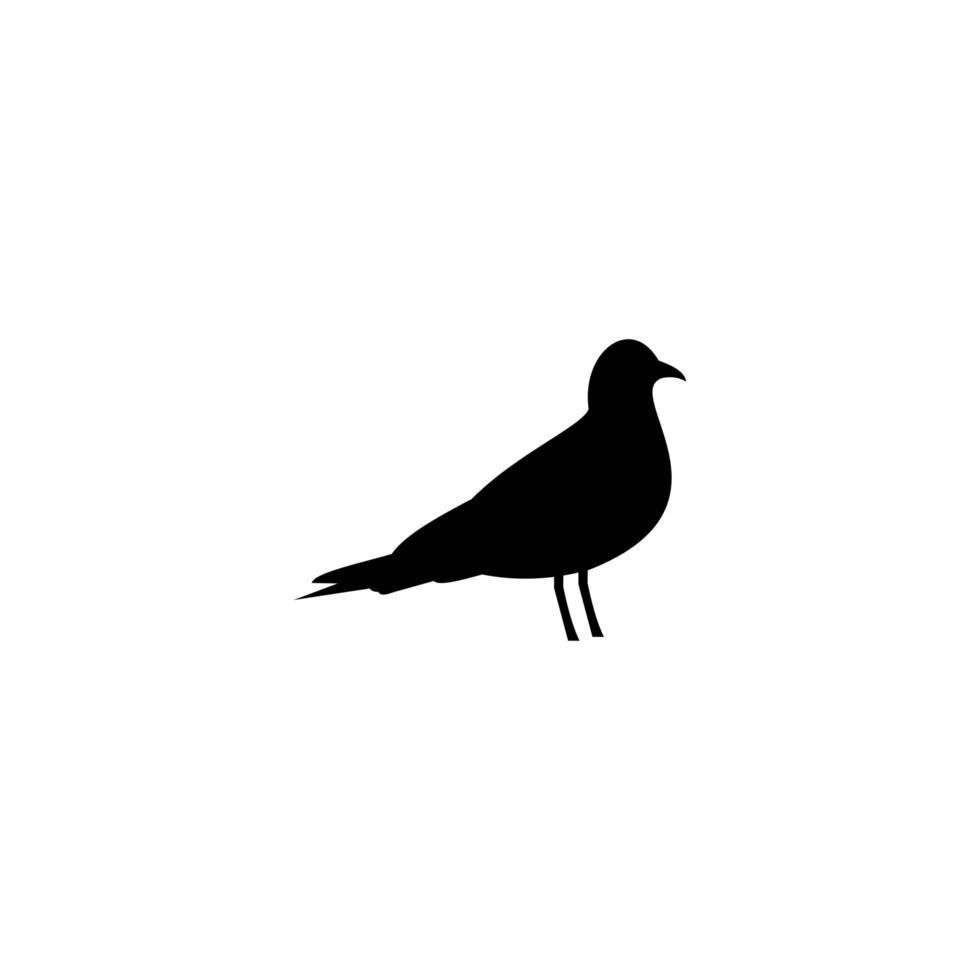 Bird logo template, animal design vector icon illustration.
