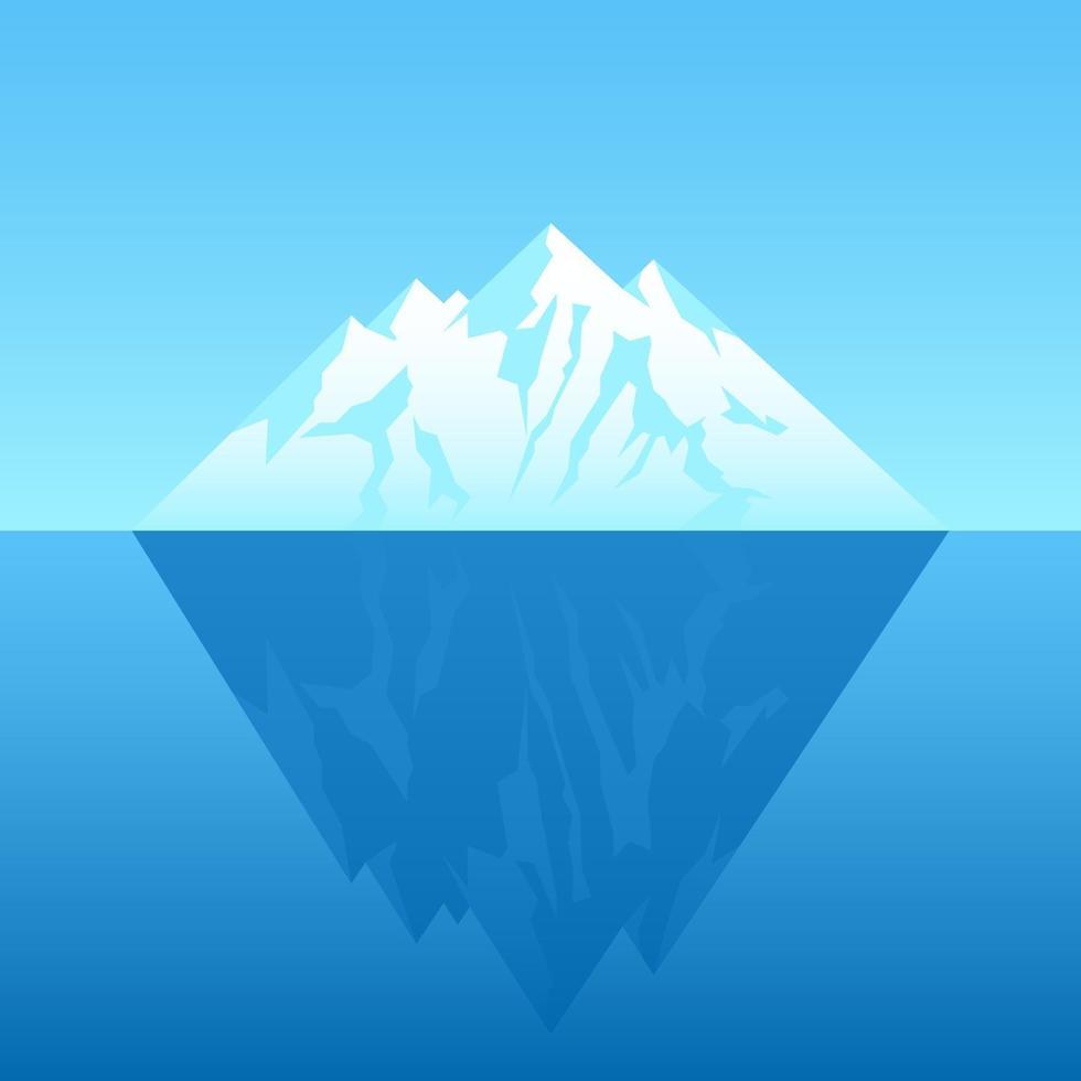 ilustración de un iceberg vector