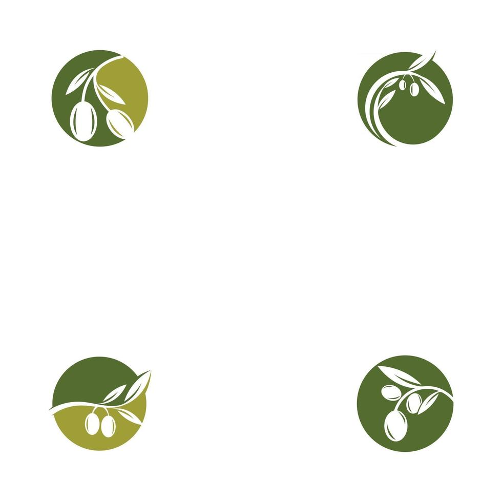 set of Olive Oil logo template icon design vector