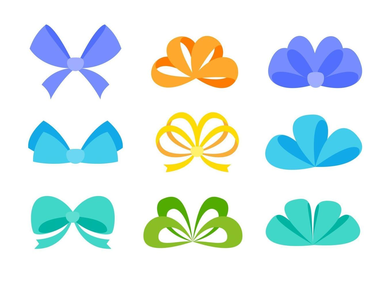 Ribbons tied with bows decorated with gift boxes on New Year's Day vector