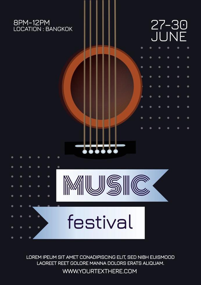 music festival music poster vector