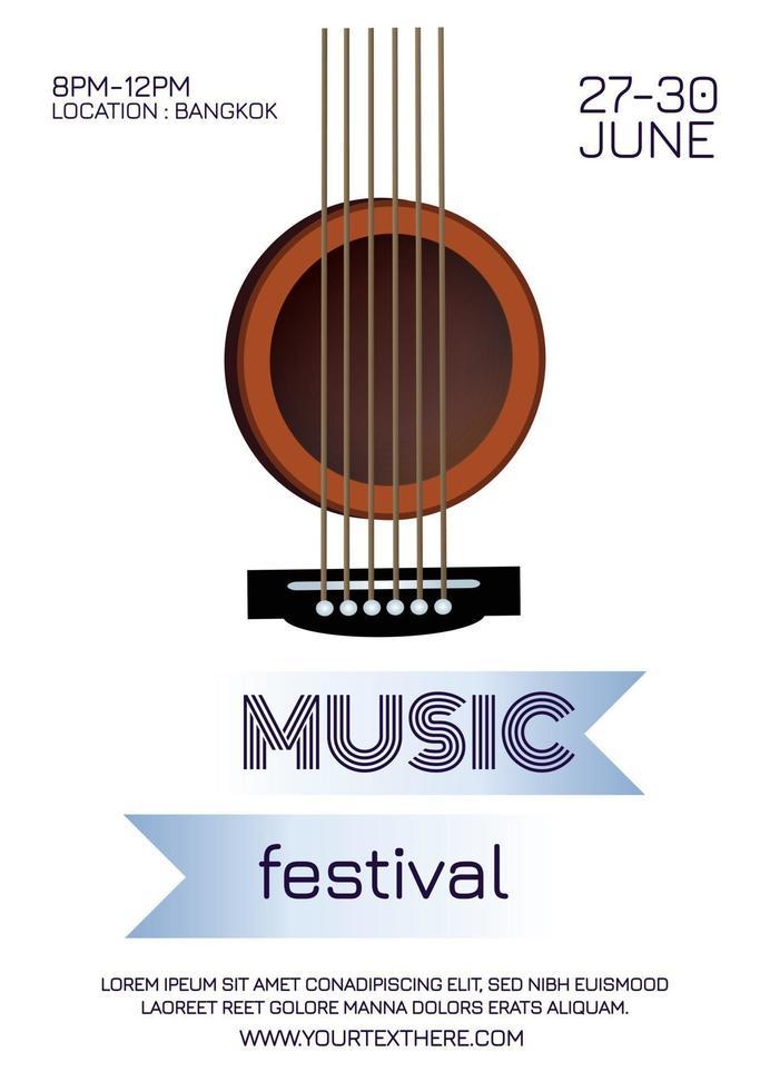 festival poster music festival poster vector
