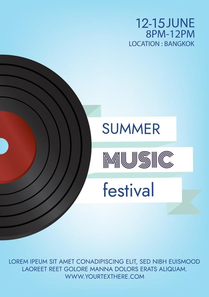classic music festival poster for party vector