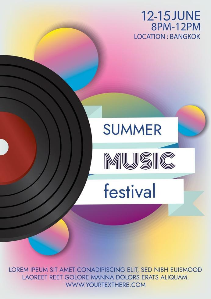 music festival poster for party poster vector