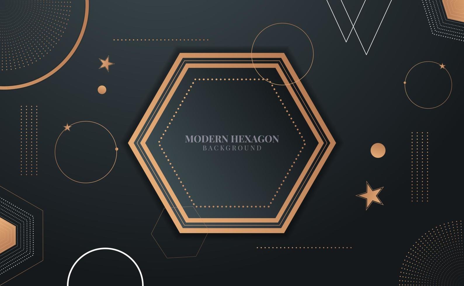 modern geometric hexagon design vector