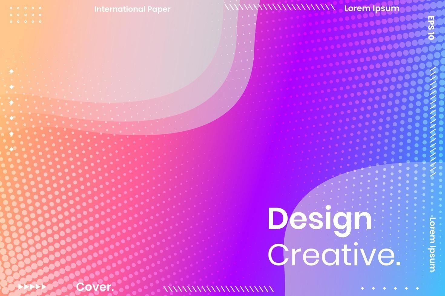 Minimal background design. Colorful halftone gradients. vector
