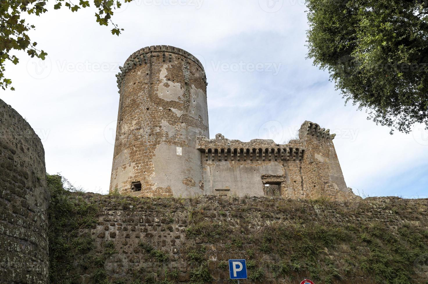 Borgia Castle in the town of Nepi, Italy, 2020 photo