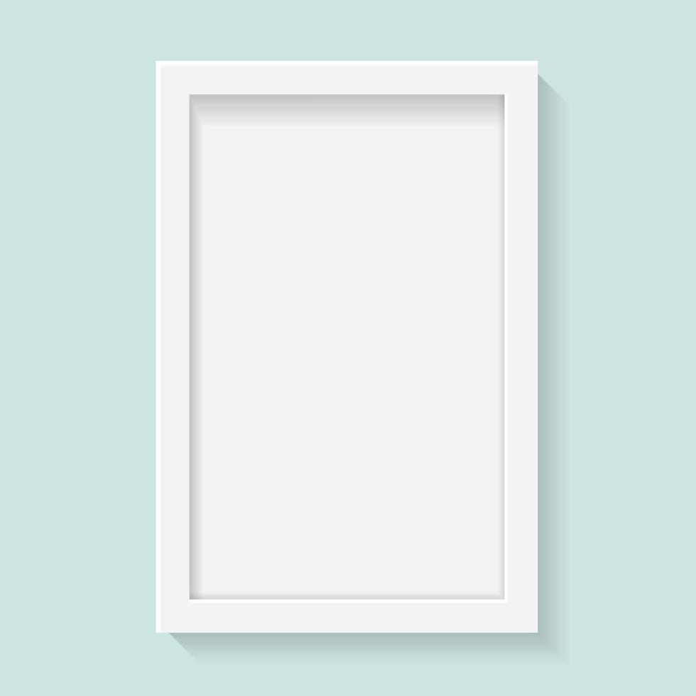 Realistic vertical picture frame vector