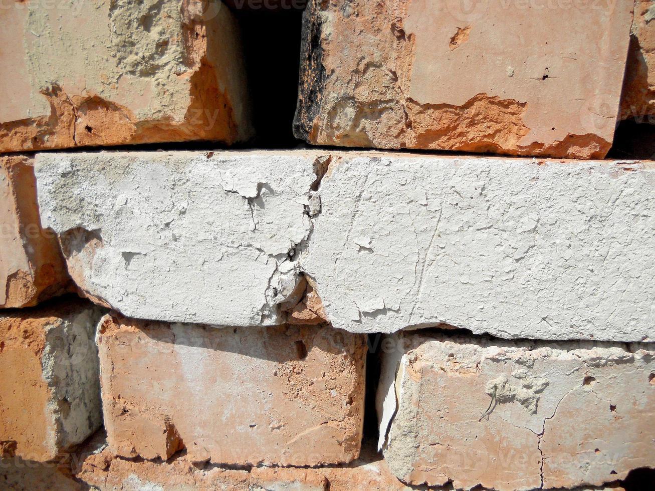 Texture brick, yellow color, background stone photo