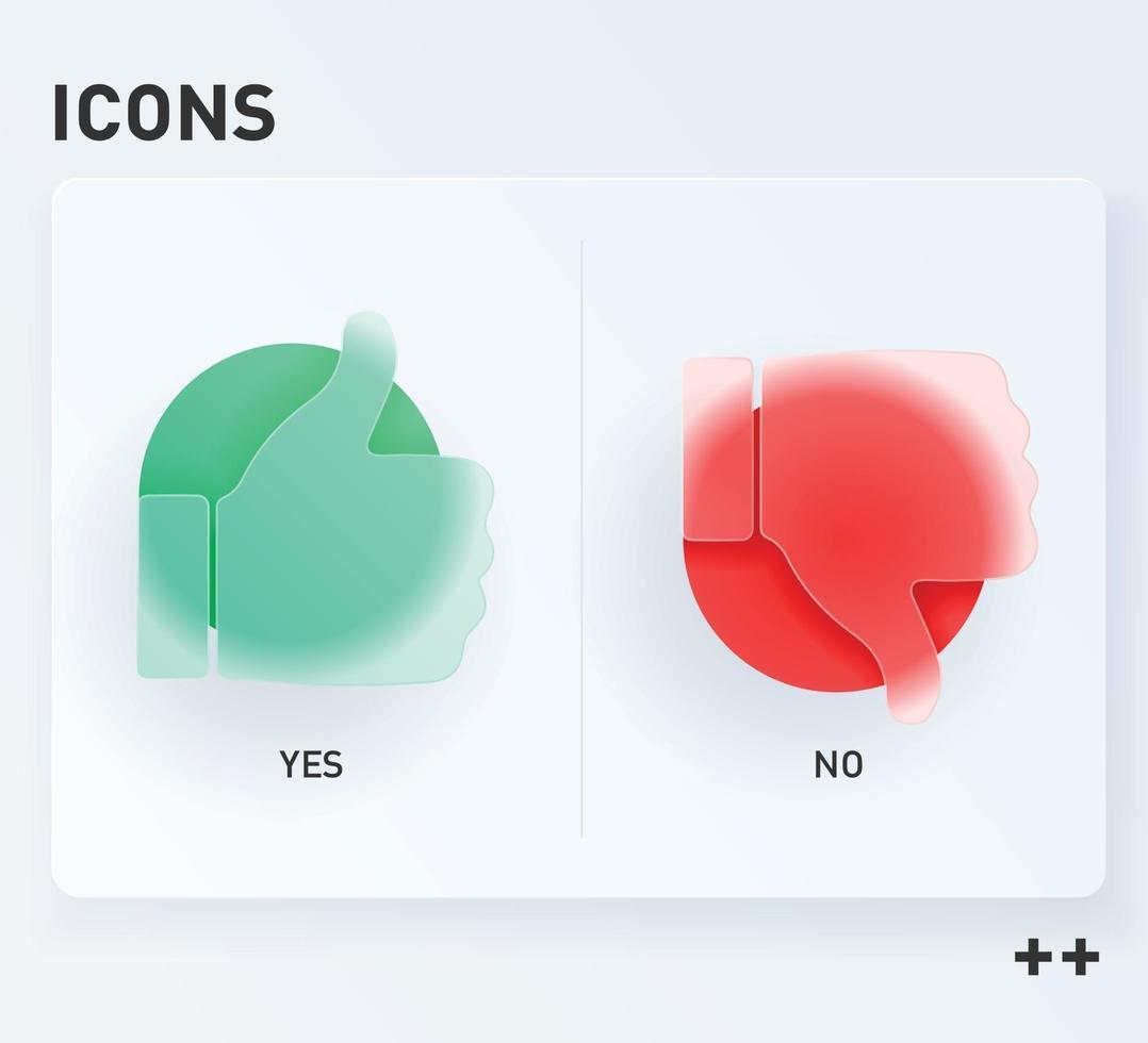 humb up and thumb down sign, likes and dislikes icons. vector