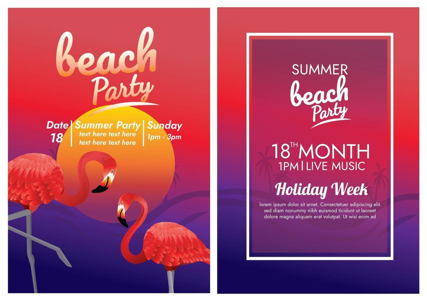 music festival poster for tropical beach party vector