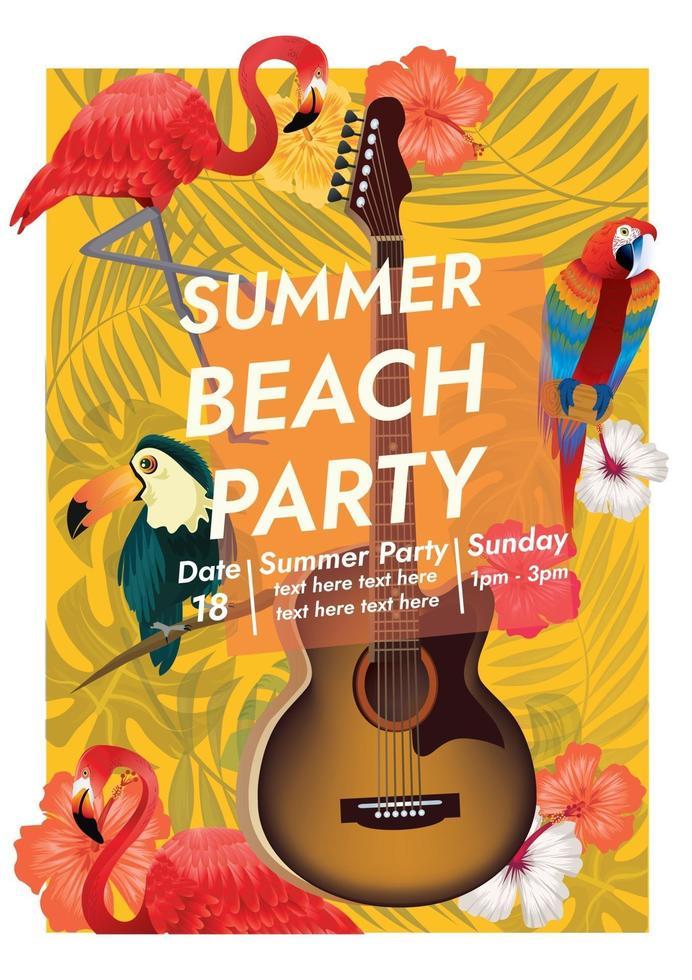 summer beach party tropical paradise vector