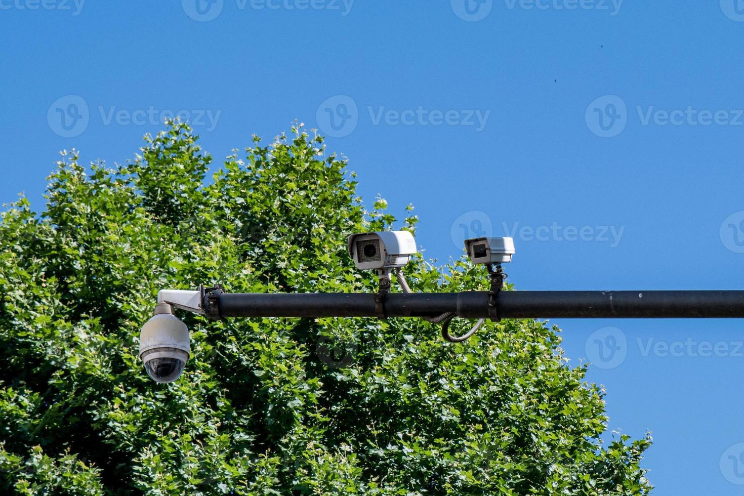 cámaras de videovigilancia en la ciudad foto