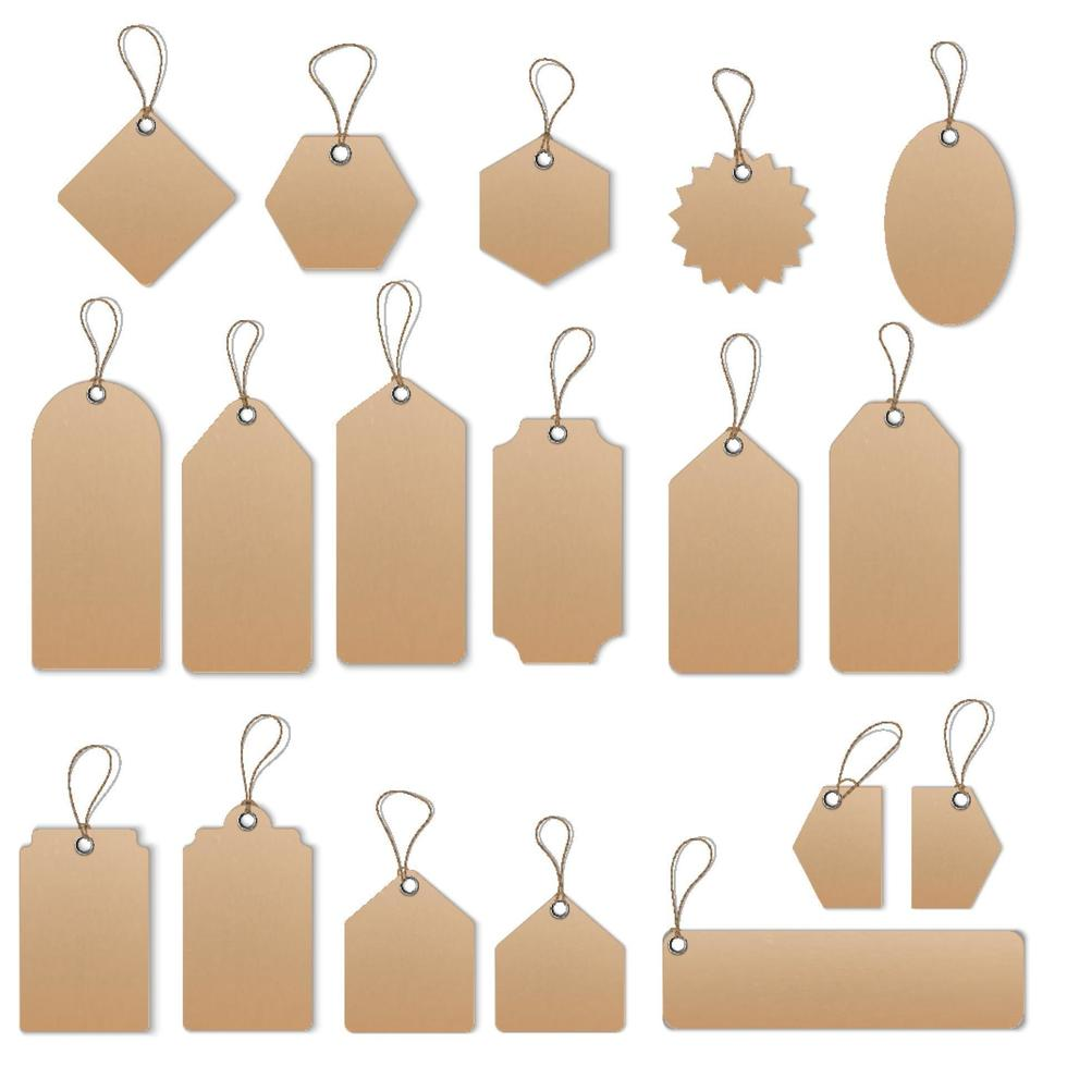 Sale tags and labels vector template set