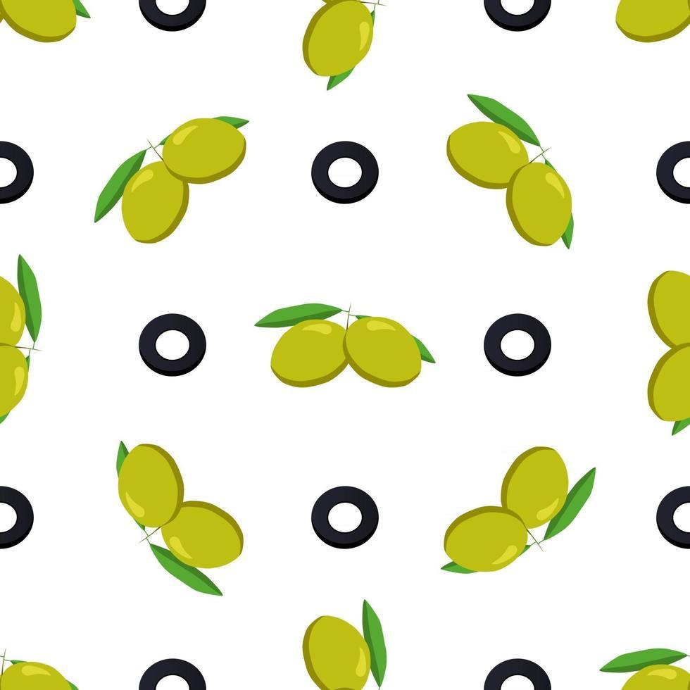 Illustration on theme of bright pattern italian olive vector