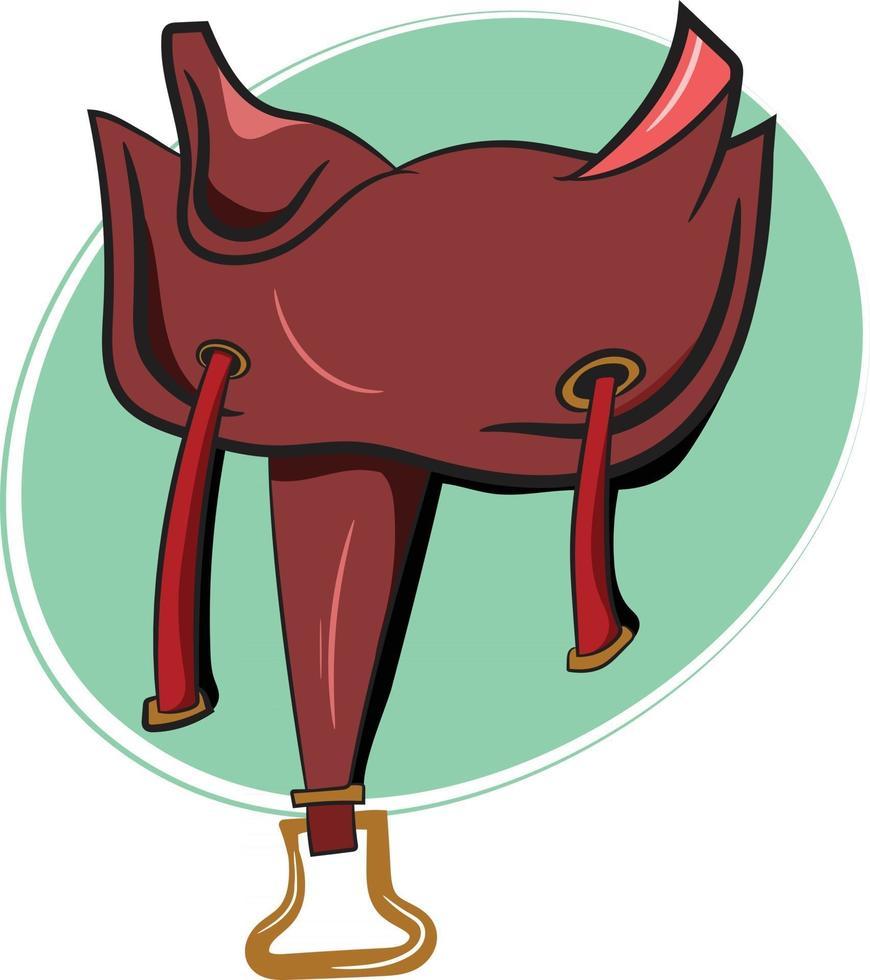 Cute Horse Saddle for Cowboy vector