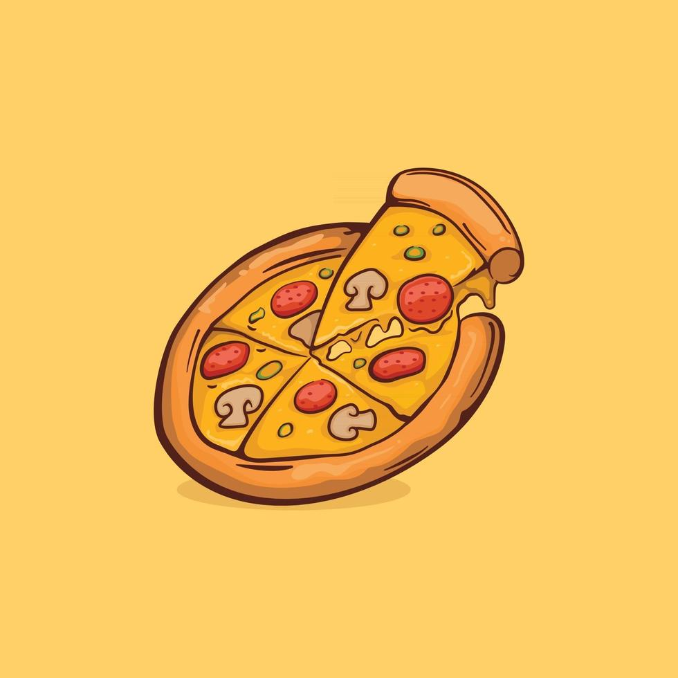 pizza Icon isolated Vector illustration
