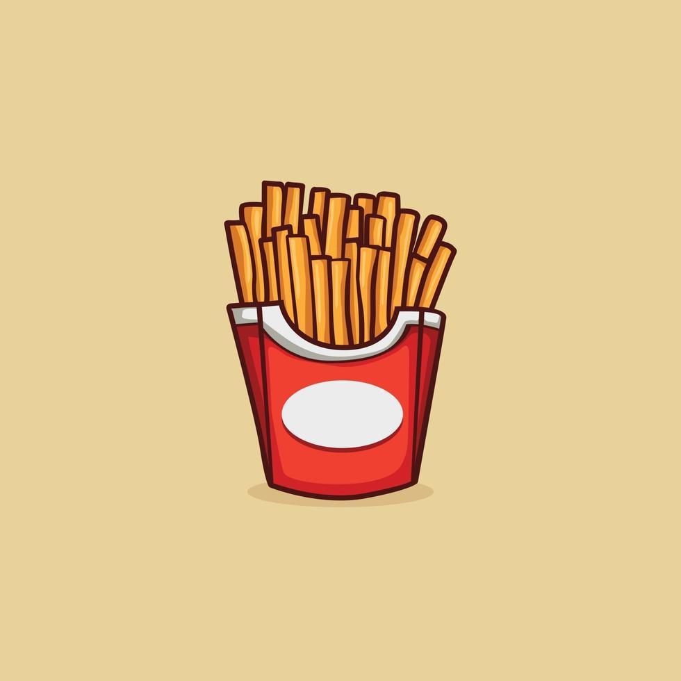 icono de papas fritas aislado ilustración vectorial vector
