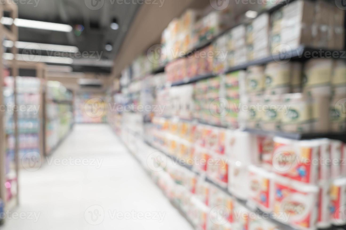 Desenfoque abstracto en el supermercado para el fondo foto