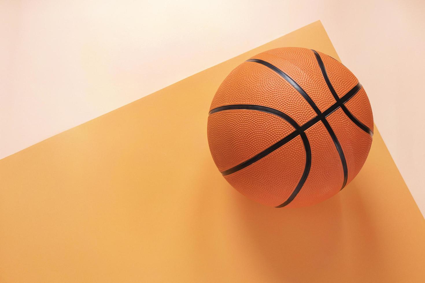 vista superior de baloncesto con espacio de copia. concepto de foto hermosa de alta calidad