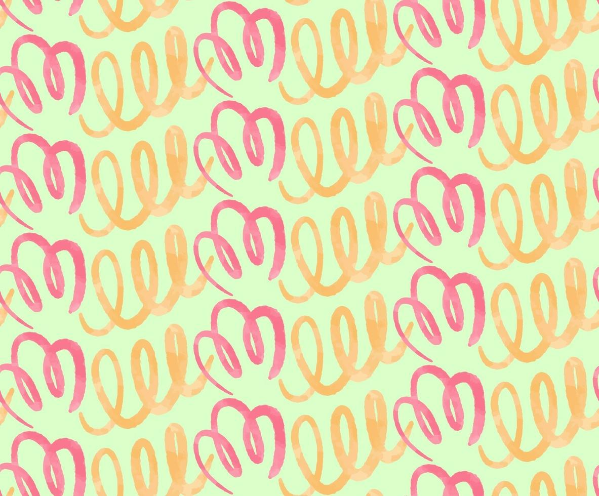Cute seamless pattern with simple watercolor brush strokes vector