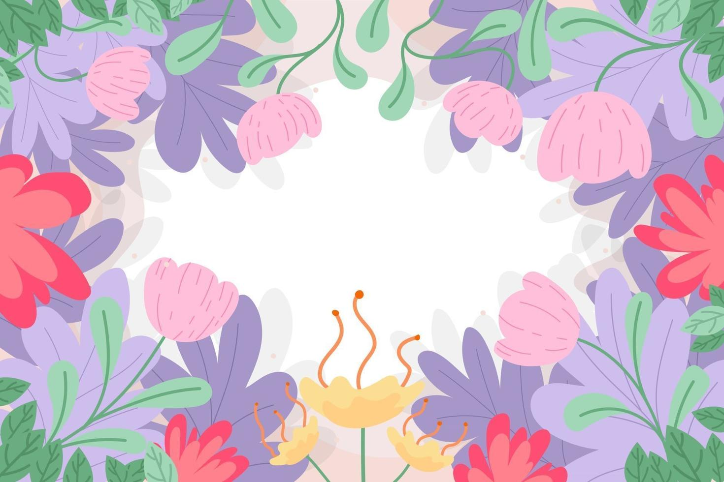 Beautiful Floral Background Ornament with Flowers vector