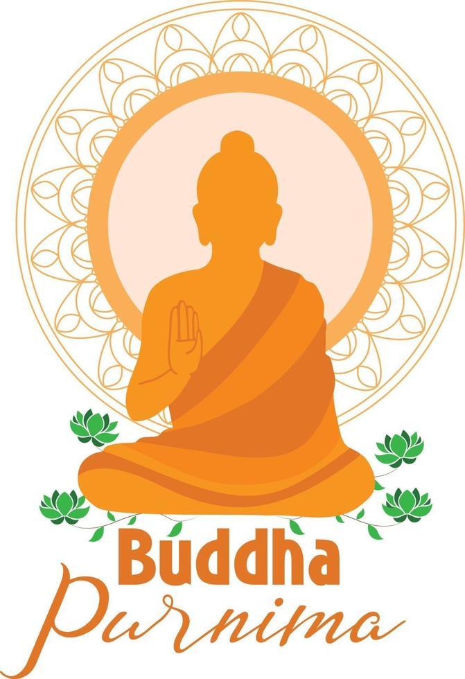 Happy buddha purnima card and wallpaper vector